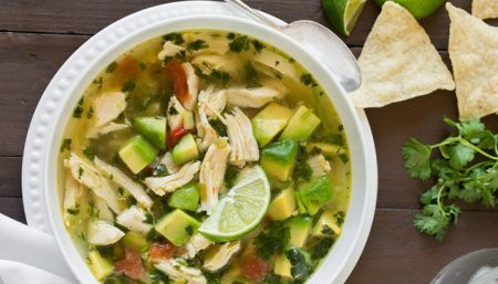 Lime Chicken Soup With Avocado
