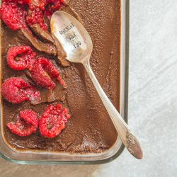 Chocolate Sorbet With Red Fruits