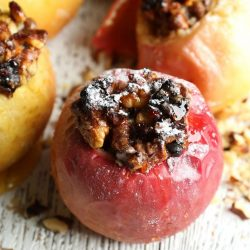 Easy Baked Apples with Walnuts & Raisins