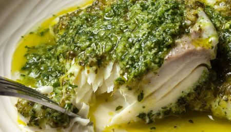 Halibut Watercress Pesto