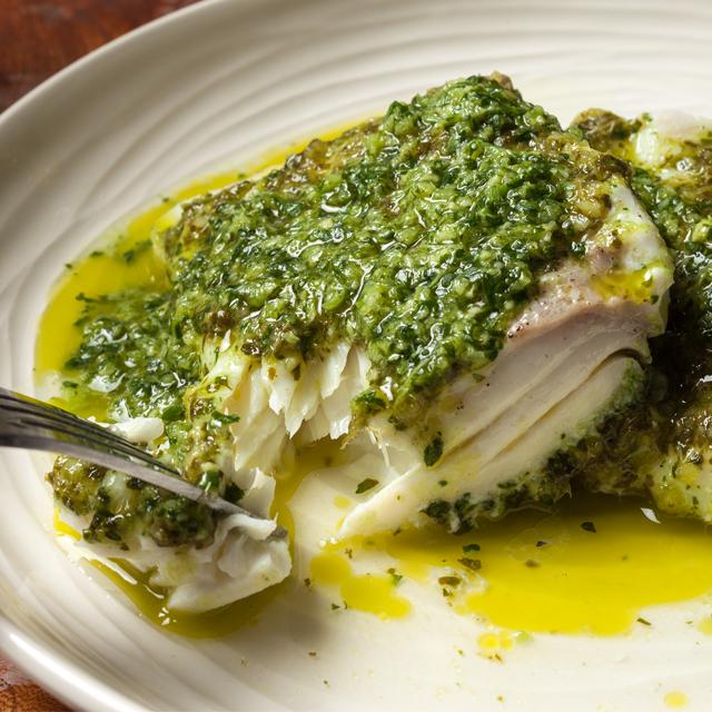 Halibut Watercress Pesto
