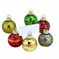 Kurt Adler Glass Place Card Holder Ornament