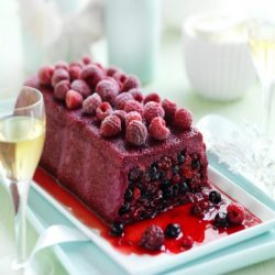 Red Berry Pudding With Cream