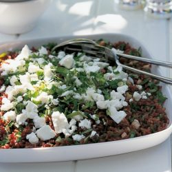 Red-Rice Dressing With Dried Fruit