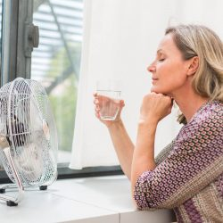 How to cure hot flushes if you're going through the menopause?