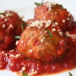 Hoki Balls in Tomato Sauce
