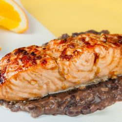 Garlic Salmon with Black Bean Sauce