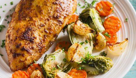 Mustard Chicken with Summer Vegetables
