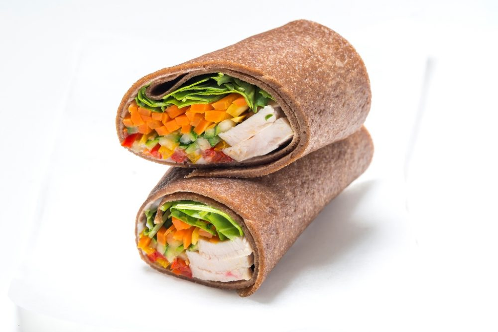 Wrap with Turkey and Veggies