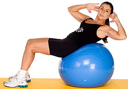 the fitness ball go challenge your abs  women fitness