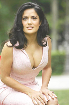 Exercises to get a cleavage like Salma Hayek.