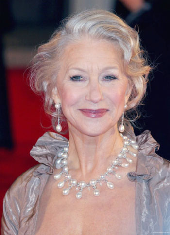 Helen mirren rated as hottest women above 60 for Gorgeous in gray