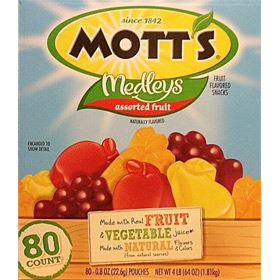 Mott's Medleys Assorted Fruit Flavored Snacks 80 Pouches 4lb