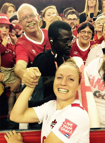 """Josee Belanger: Exceptionally Talented Canadian Soccer Player Reveals her Success Mantra """"Work & Discipline is the bridge between Goal and Accomplishment"""