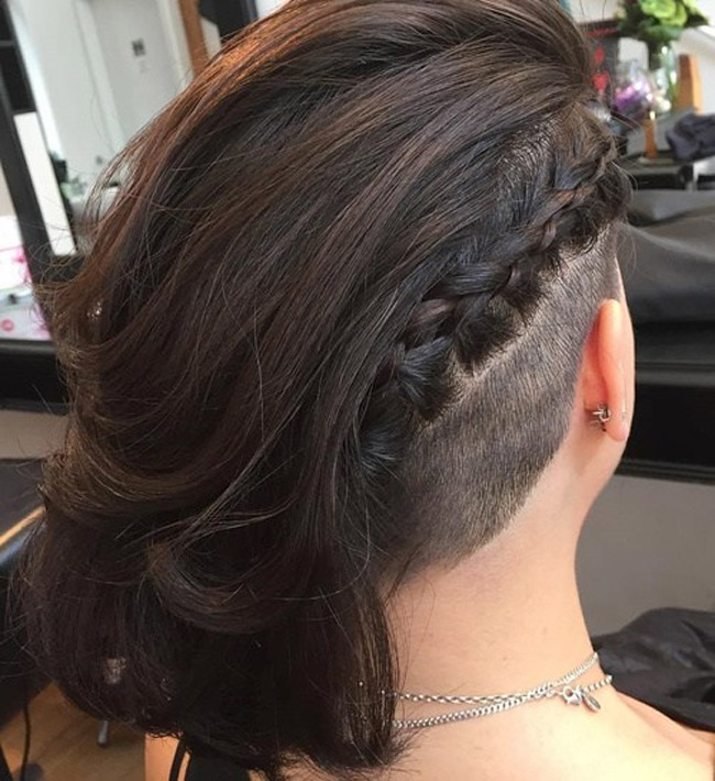 Women Hairstyle Trend in 2016: Undercut hair - Angled Bob Hairstyles