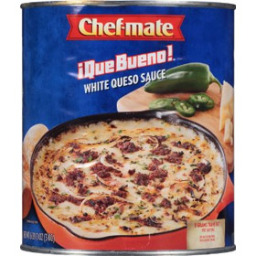 Chef-mate Que Bueno White Queso Sauce, 106 Ounce