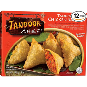 Tandoor Chef Tandoori Chicken Samosa, 7-Ounce Packages (Pack of 12)