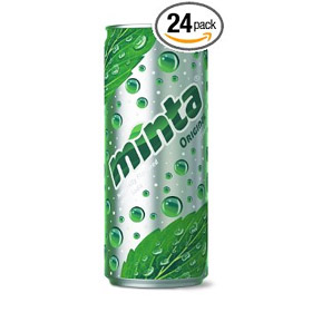 Minta Naturally Flavored Sparkling Mint Beverage, Original, 10 Fluid Ounce (Pack of 24)