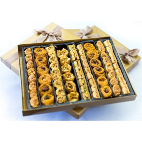 Baklava Assorted Gift ★ Petit Gourmet Arabian Sweets ★ 70 Piece Pastry ★ Gold Thank You Dessert...