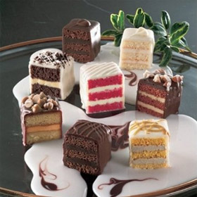 Chocolate Lovers Petit Fours - Gourmet Frozen Desserts (60 Piece Tray)