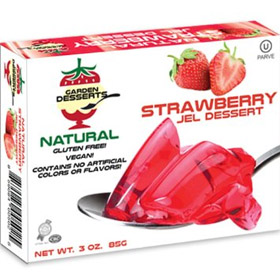 Garden Desserts All Natural Jel Strawberry Flavor (Pack of 2)