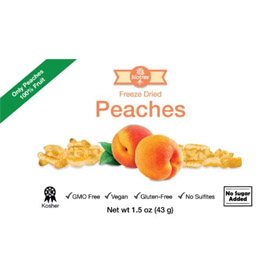 Delicious Peaches - All Natural Freeze Dried Peaches Snack: 100% Peaches, No Added Sugar No...