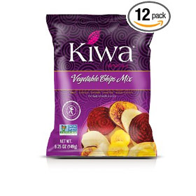KIWA Vegetable Mix Chips, 5.25 Ounce (Pack of 12)