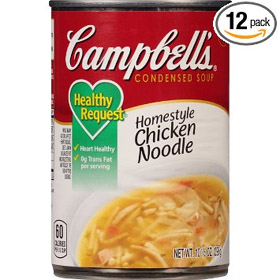 Campbell's Healthy Request Homestyle Chicken Noodle Soup, 10.5 Ounce (Pack of 12)