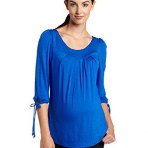 Maternal America Women's Maternity Tie Sleeve Shirt