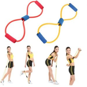 Dttshopping 1Pcs Resistance 8 Type Muscle Chest Expander Rope Workout Fitness Yoga