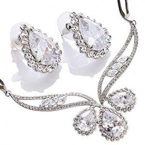Stunning Pear Drops Swarovski Crystals Jewellery set of Distinction