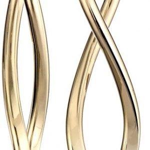 14k Gold Italian Infinity Drop Earrings