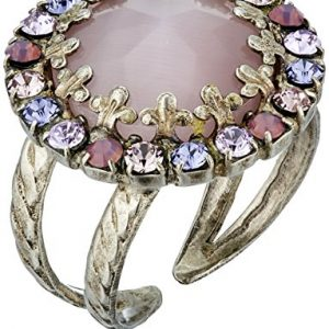 Sorrelli Circular Crystal Adjustable Ring