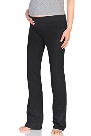377667e97970a Beachcoco Women's Maternity Fold Over Comfortable Lounge Pants - WF ...