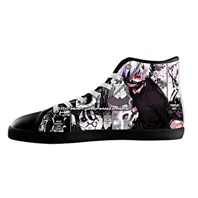 b03dd7805b2e DONGMEN Custom Japanese Anime Tokyo Ghoul Lady s Canvas Shoes High-top  Casual Sneakers