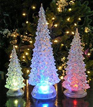 led lighted acrylic christmas trees