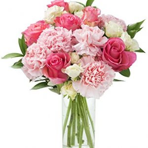 Pretty in Pink Roses and Carnations