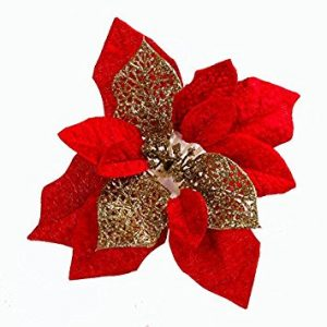 Artificial Poinsettia Flower For Christmas Tree
