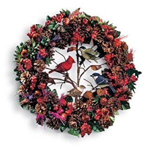 Fiber Optic Woodland Christmas Bird Wreath