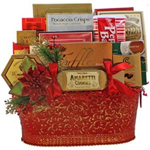 Holiday Greetings Christmas Gourmet Food Gift Basket