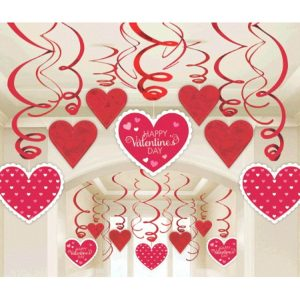 Valentine's Foil Swirl Party Decoration