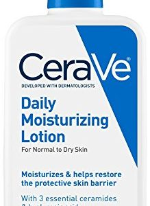 CeraVe Daily Moisturizing Lotion 12 oz with Hyaluronic Acid and Ceramides for Normal to Dry Skin