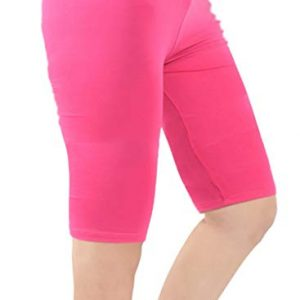 Zando Women's Modal Over The Knee Length Smooth Short Plus Size Sport Leggings