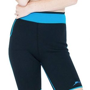 Delfin Spa Women's Heat Maximizing Neoprene Anti Cellulite Exercise Shorts - Petite Thru Plus