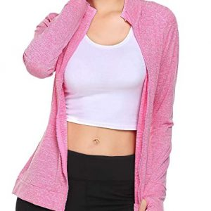 Women's Workout and Yoga Full Zip Up Stretchy Jacket