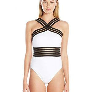 Kenneth Cole New York Women's Stompin' in My Stilettos High Neck Mio One Piece Swimsuit