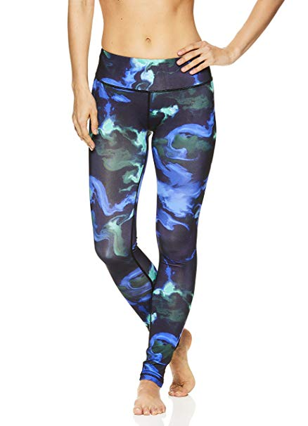 Nicole Miller Active Women's Flekka Printed Leggings - Performance Activewear Workout Pants