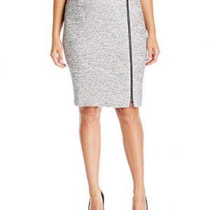 Kasper Women's Plus Size Tweed Skirt with Zipper