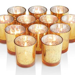 Volens Gold Votive Candle Holders