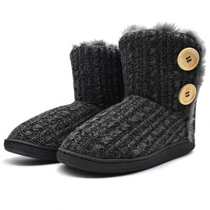 ONCAI Fluffy Faux Fur Slipper Boots Women Soft Cozy